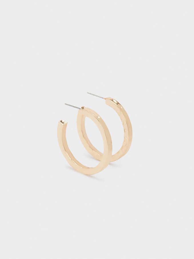 Gold Hoop Earrings , Golden, hi-res