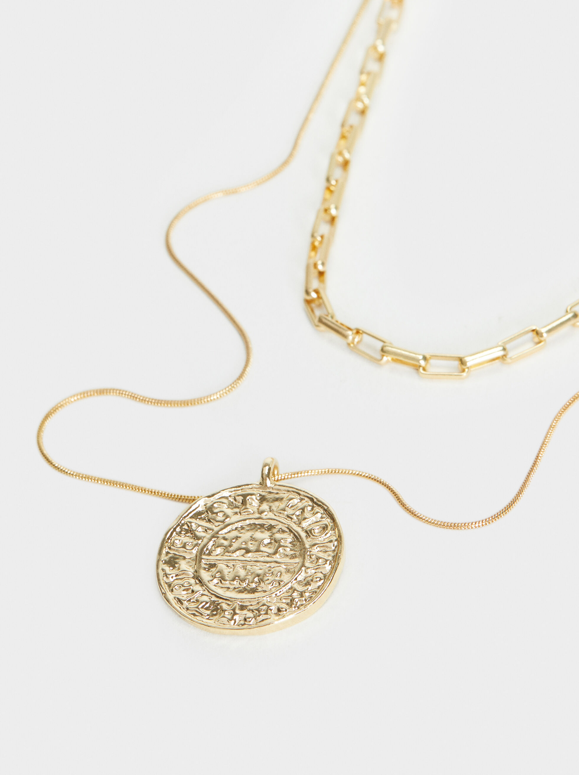 Hoop Fever Necklace Set, Golden, hi-res