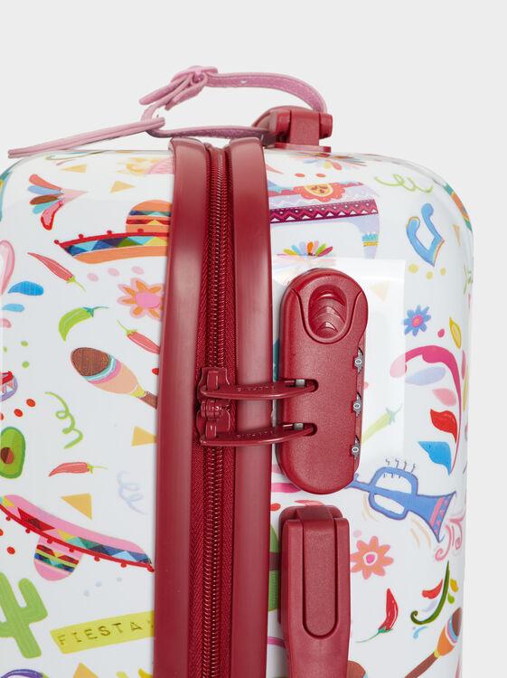 Mexico Print Trolley Bag, Coral, hi-res