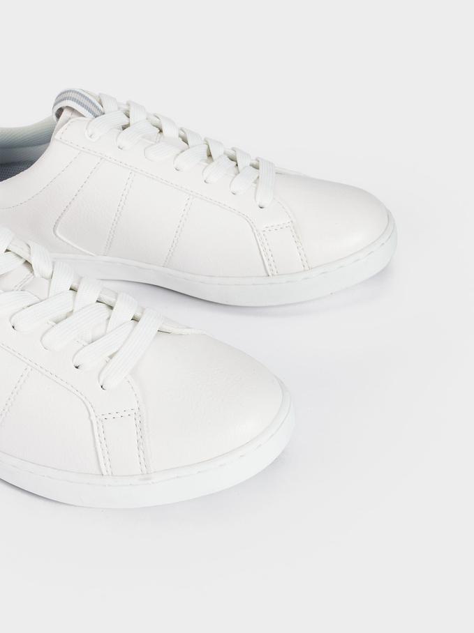 Baskets Détails Contrastants, Blanc, hi-res