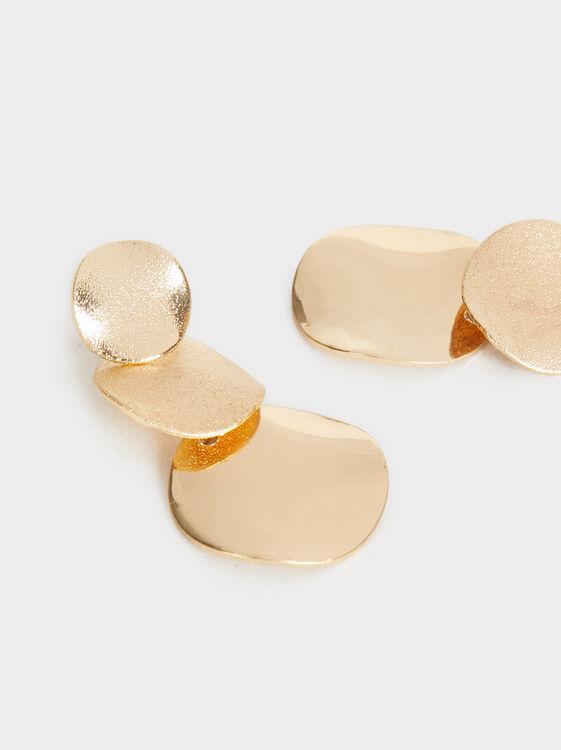 Long Circle Earrings, Golden, hi-res