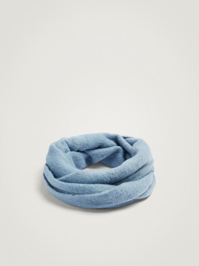 Plain Snood, Blue, hi-res
