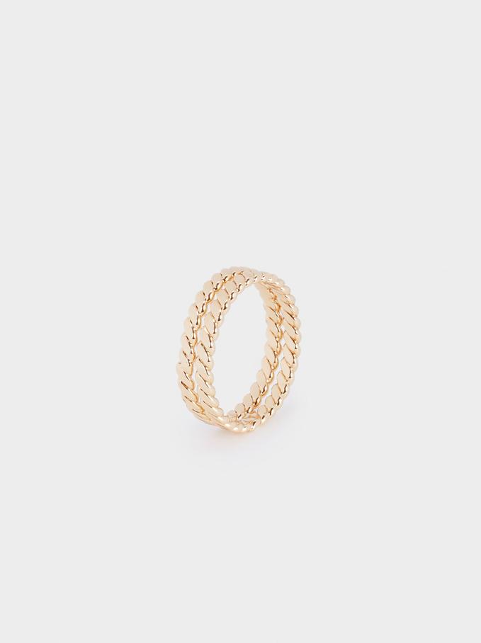 Golden Band Ring, Golden, hi-res