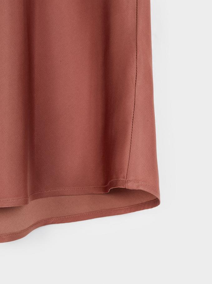 Falda Larga Cintura Elástica Limited Edition, Teja, hi-res
