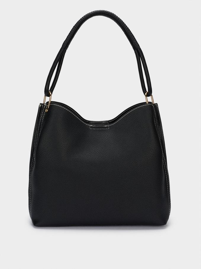 Shoulder Bag With Removable Interior, Black, hi-res