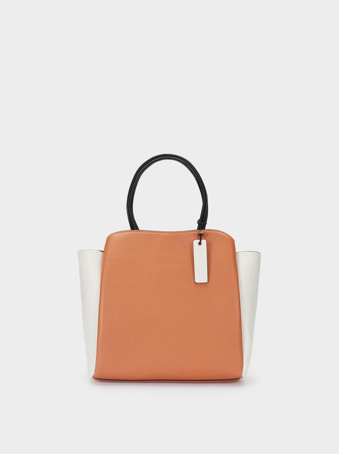 Tote Bag With Removable Shoulder Strap, Beige, hi-res