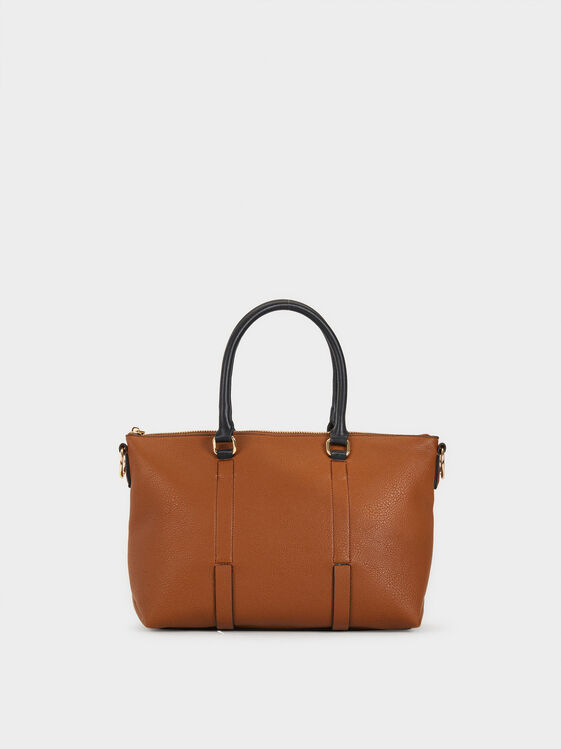 Faux Leather Tote Bag, , hi-res