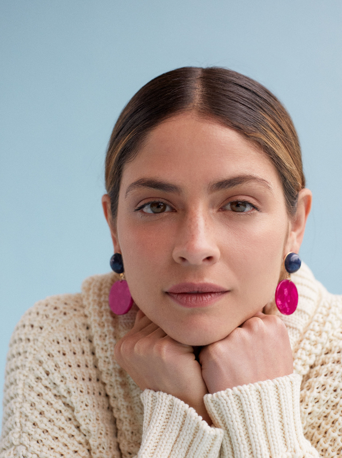 Geometric Earrings, Multicolor, hi-res