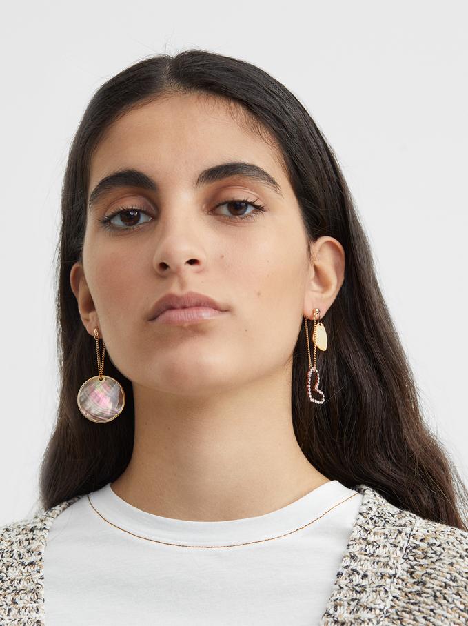 Blog Drop Earring Set, Multicolor, hi-res