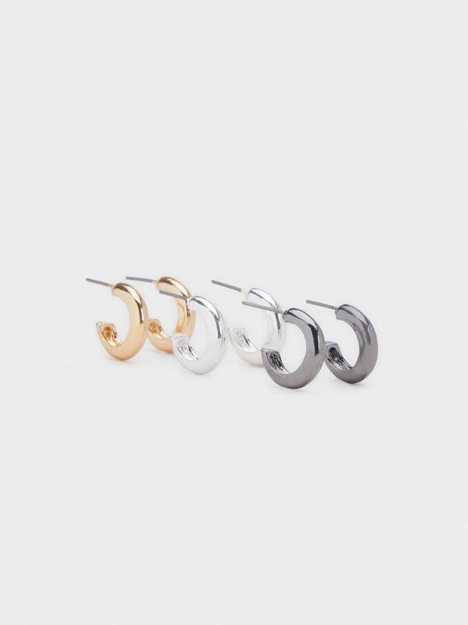 Basic Hoop Earring Set, Multicolor, hi-res