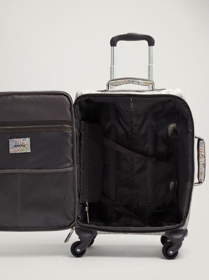 Valise Cabine À Imprimé Paisley, Écru, hi-res