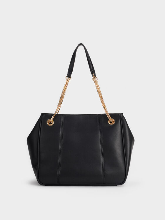 Plain Shoulder Bag, , hi-res
