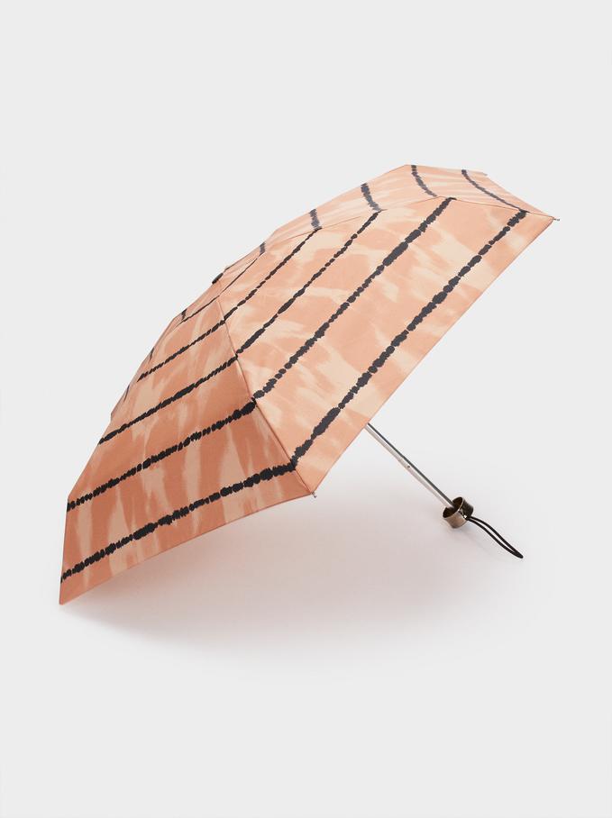 Small Folding Umbrella, Orange, hi-res