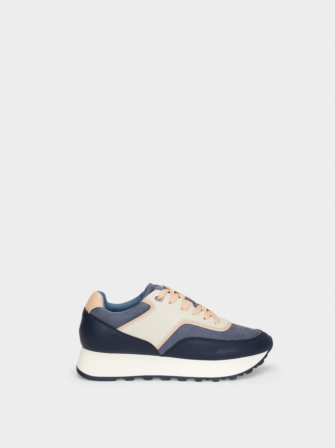 Platform Shoes, Blue, hi-res