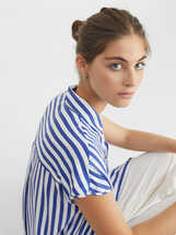 Striped Shirt Dress, , hi-res