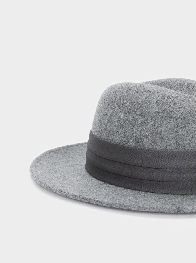 Chapéu De Lã, Cinzento, hi-res
