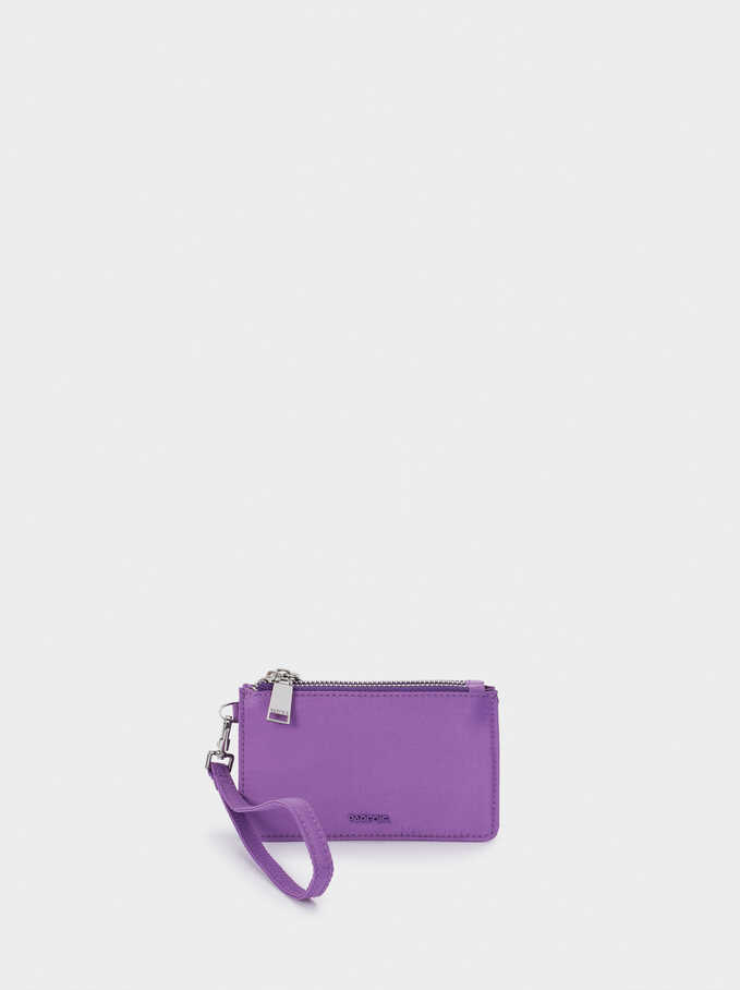 Nylon Plain Multi-Purpose Bag, Violet, hi-res