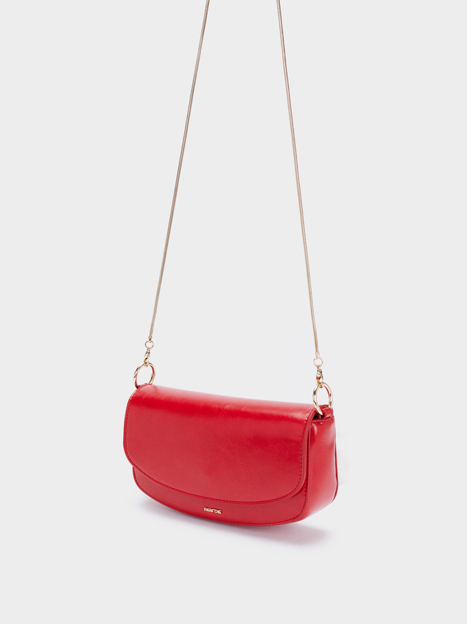 Party Bag With Double Strap, Red, hi-res