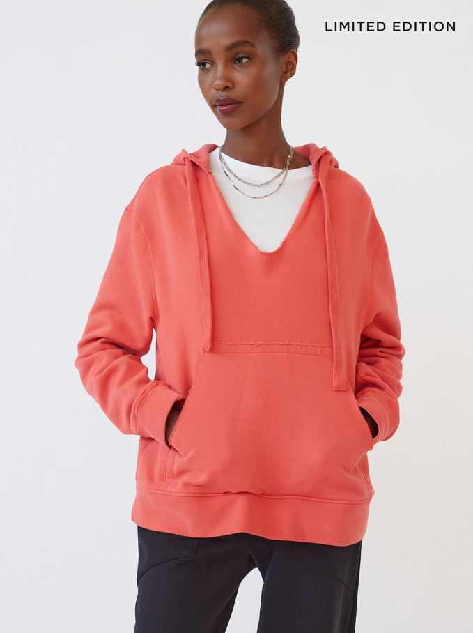 Limited Edition Knit Hoodie, Pink, hi-res