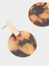 Medium Earrings With Multicoloured Circle, Multicolor, hi-res