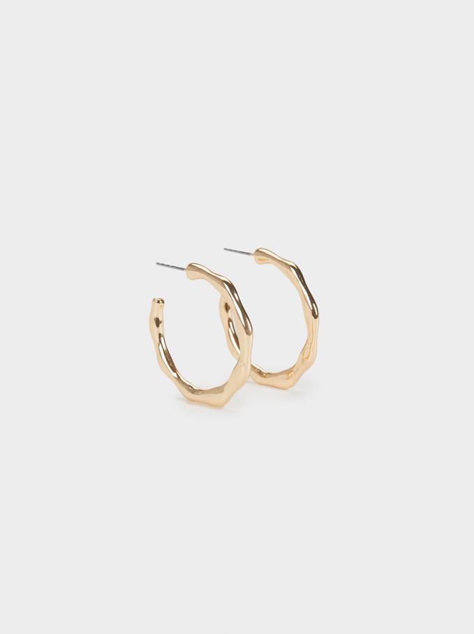Basic Small Hoop Earrings, Golden, hi-res