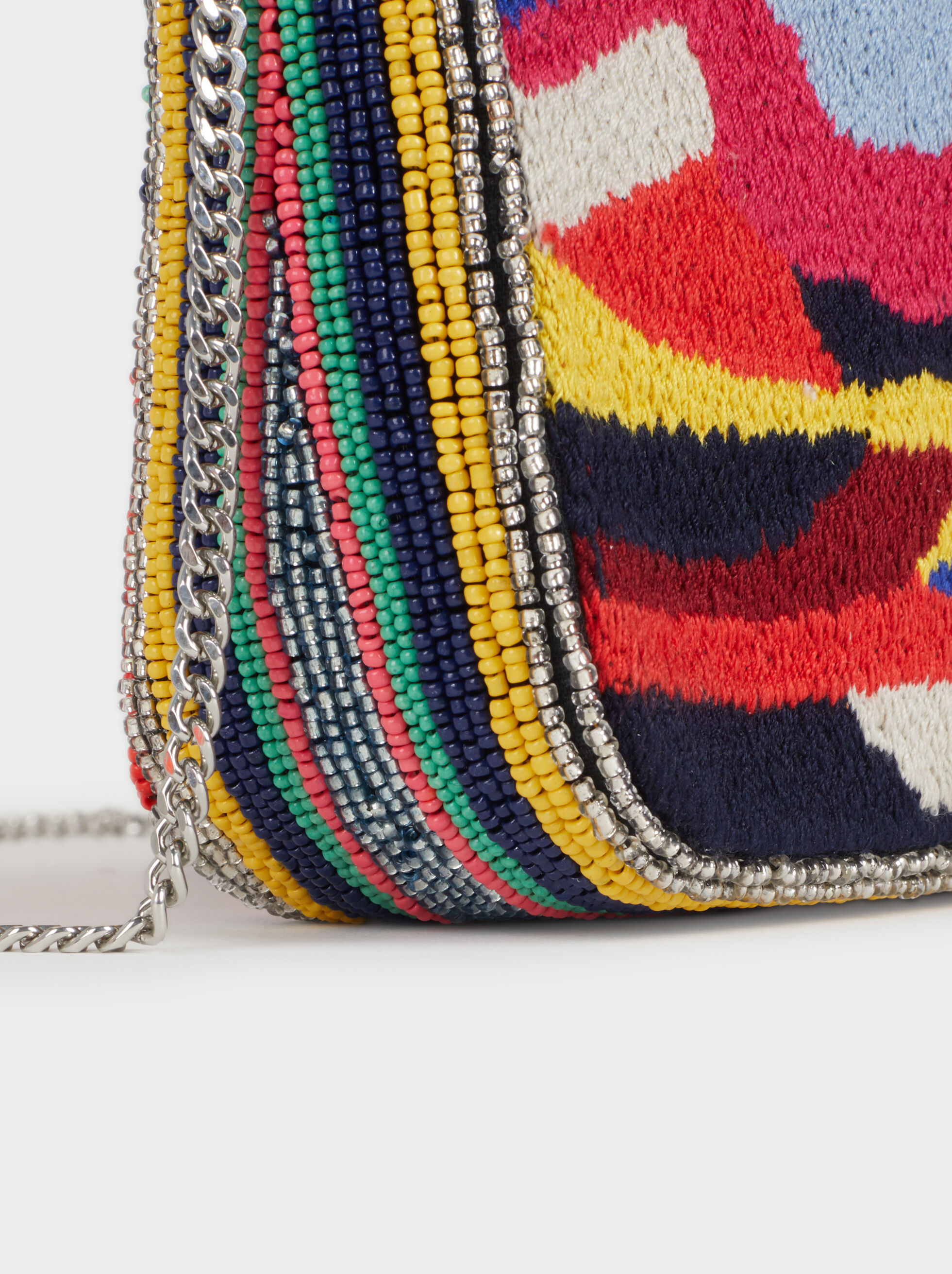 Crossbody Bag With Beading, Red, hi-res