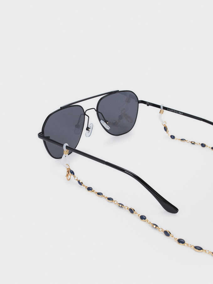Mask And Glasses Chain, Navy, hi-res
