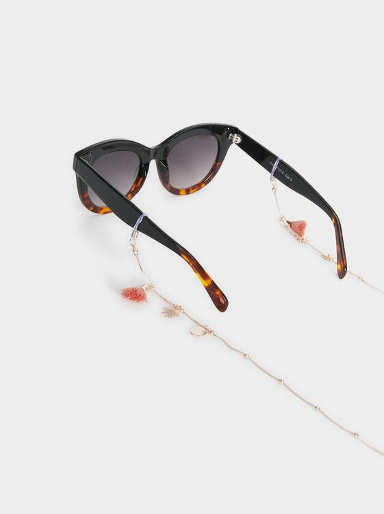 Beaded Glasses Cord, Orange, hi-res