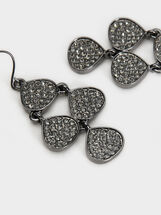 Medium Botanic Party Earrings, Black, hi-res