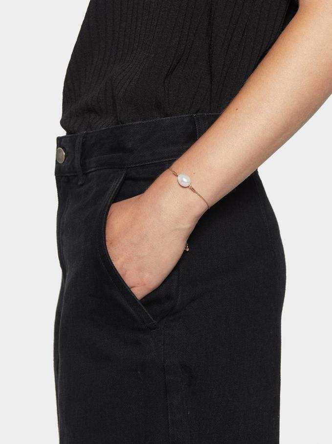 Fancy Pearls Adjustable Bracelet, White, hi-res