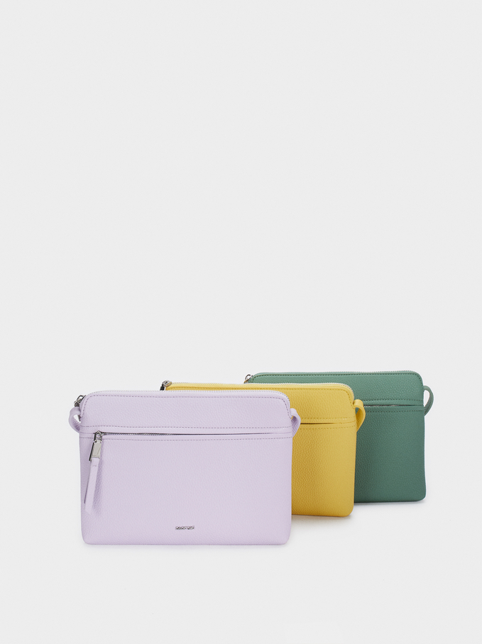 Crossbody Bag With Outer Pocket, Violet, hi-res