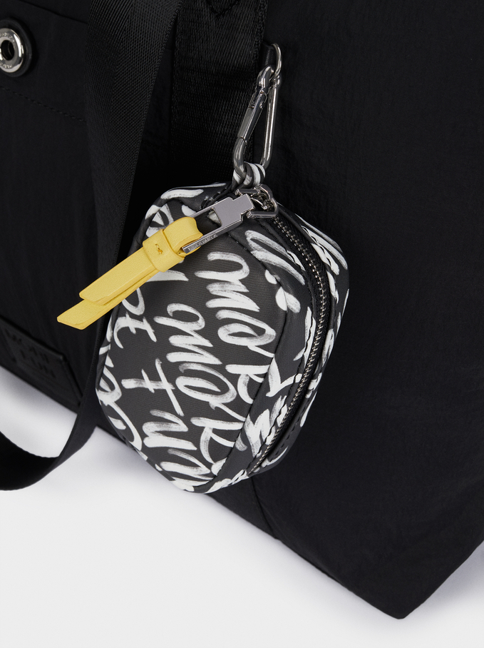 "Nylon Tote Bag For 15"" Laptop, Black, hi-res"