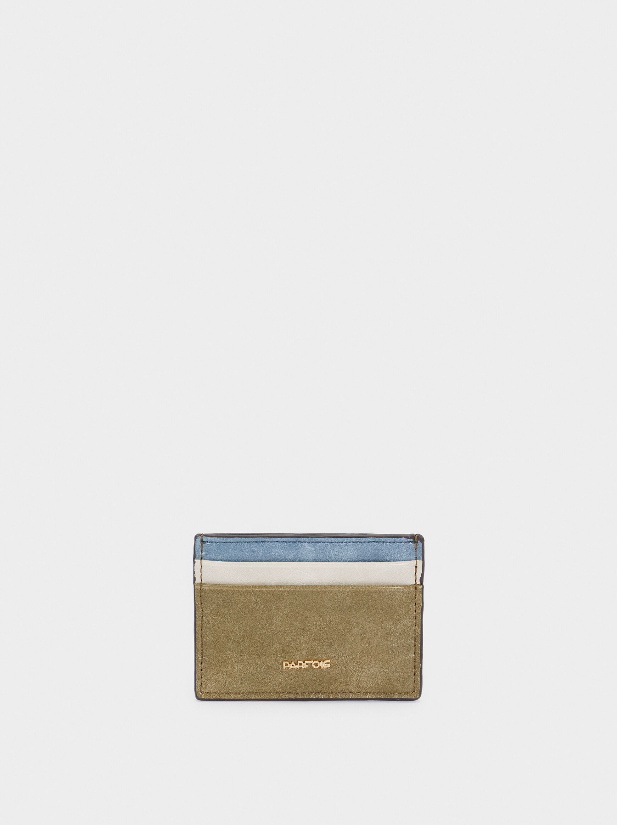 Multi-Colour Card Holder, Khaki, hi-res