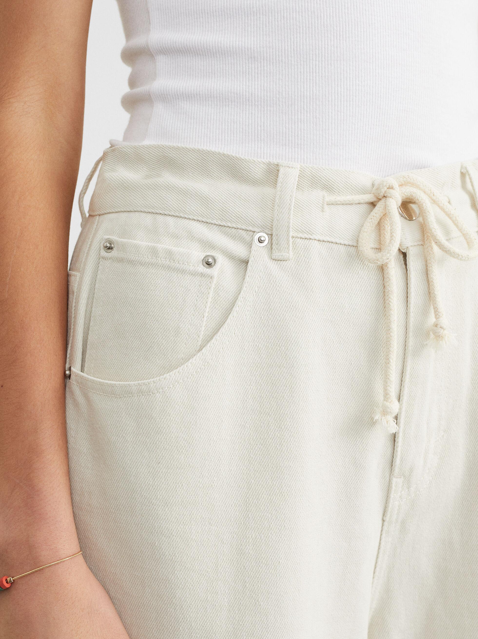 Cargo Long Jeans, Ecru, hi-res