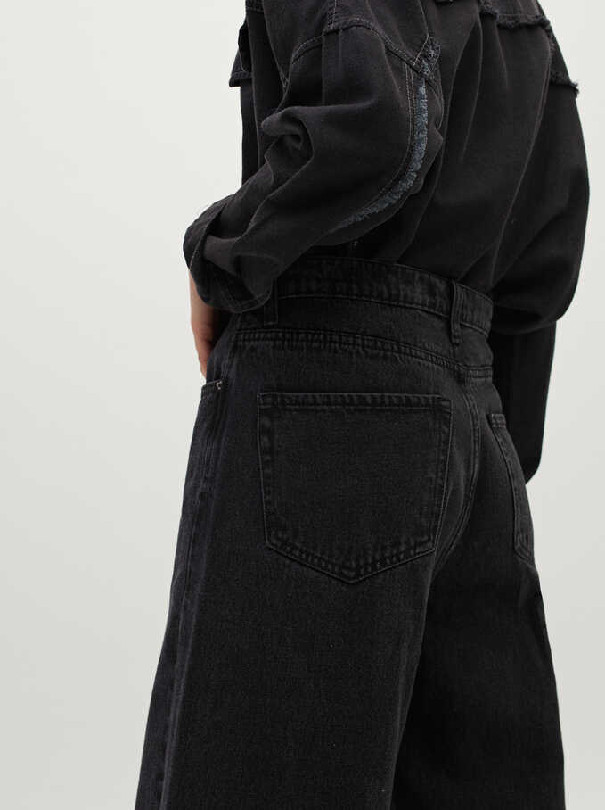 Long Jeans, Black, hi-res