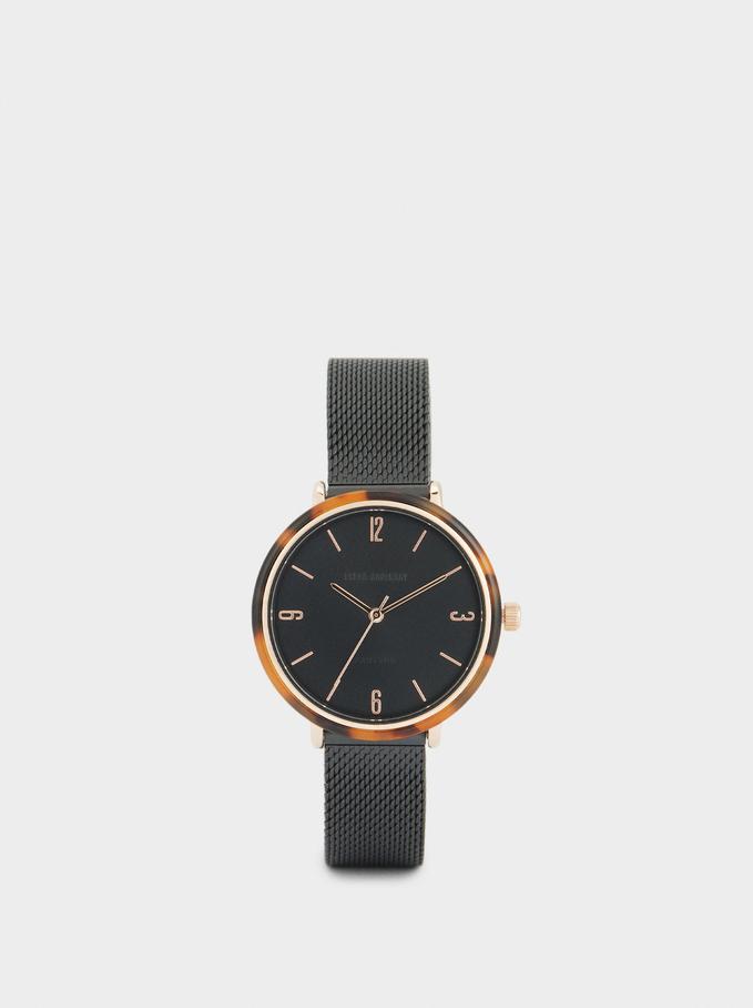 Reloj Con Esfera Tortoise, Negro, hi-res