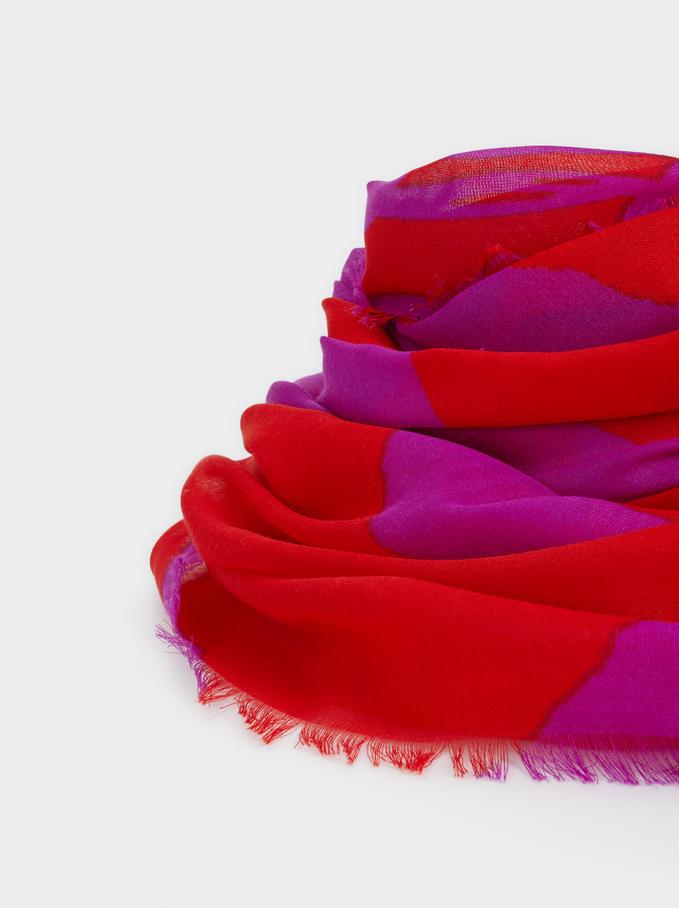 Lenço Com Estampado Bicolor, Multicor, hi-res