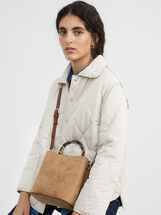 Faux Leather Bucket Bag, , hi-res