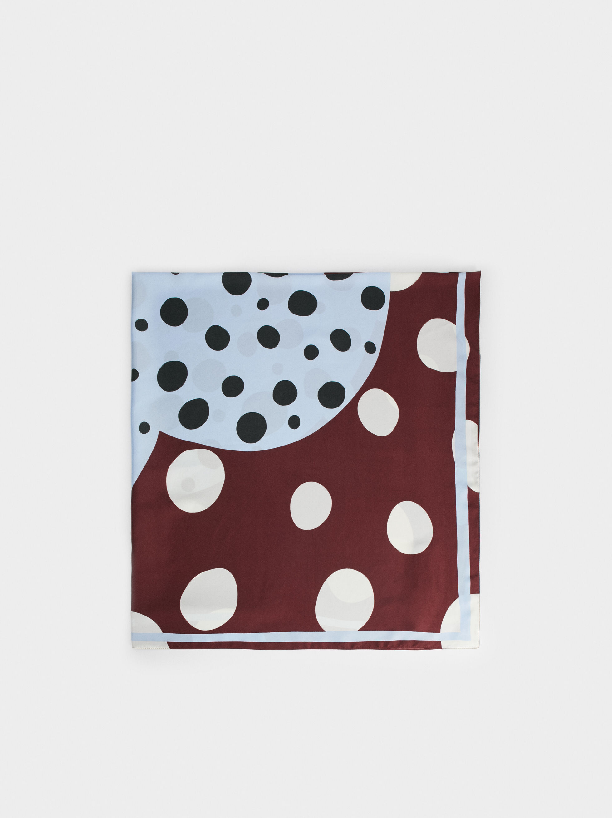 Polka Dot Square Scarf, , hi-res