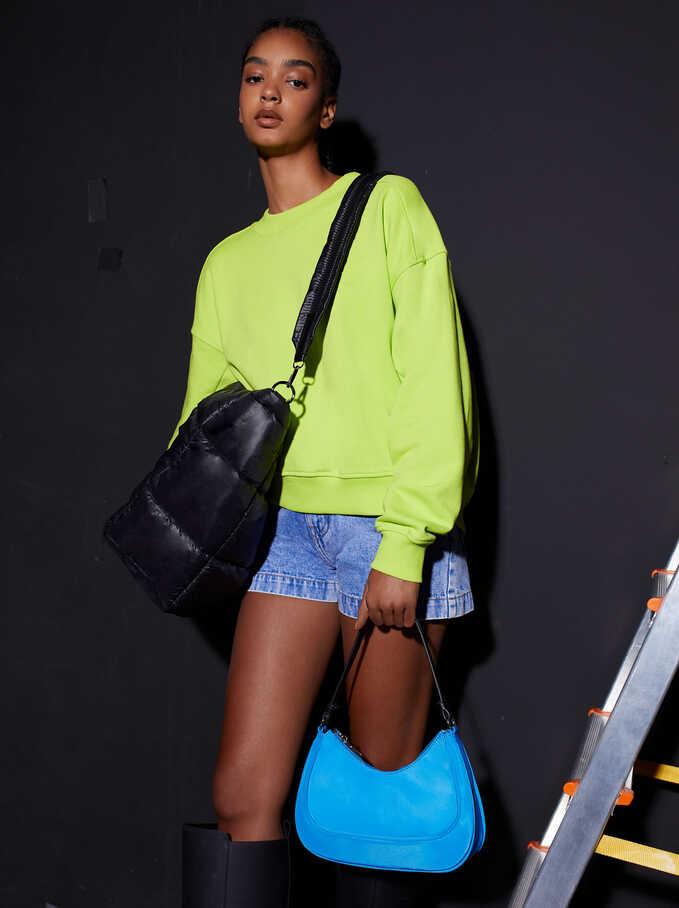 100% Cotton Sweatshirt, Yellow, hi-res