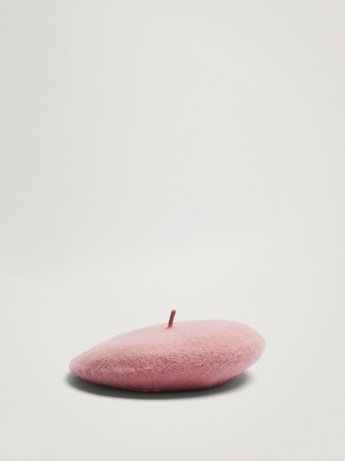 Wool Beret, Pink, hi-res