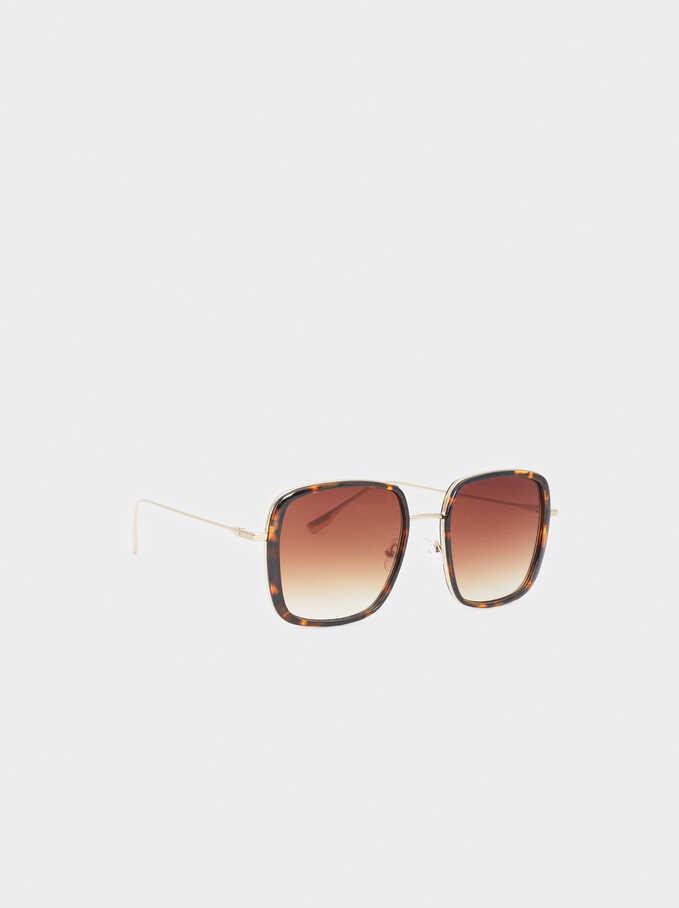 Square Sunglasses, Brown, hi-res