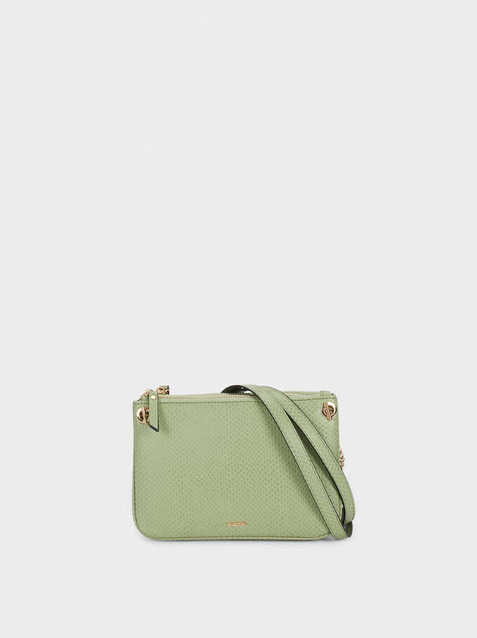 Animal Embossed Crossbody Bag, Green, hi-res