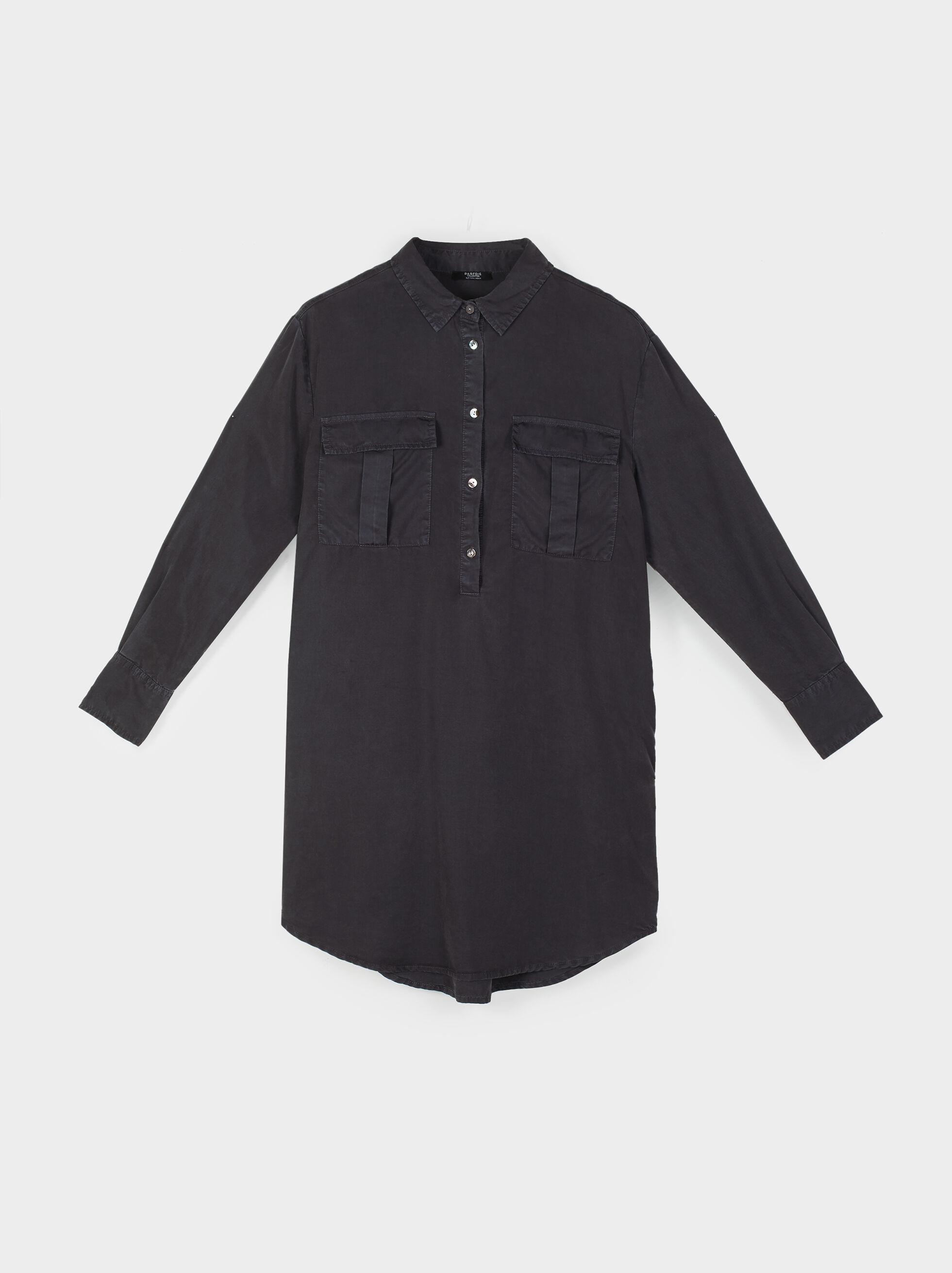 Shirt Dress With Button Details, Grey, hi-res