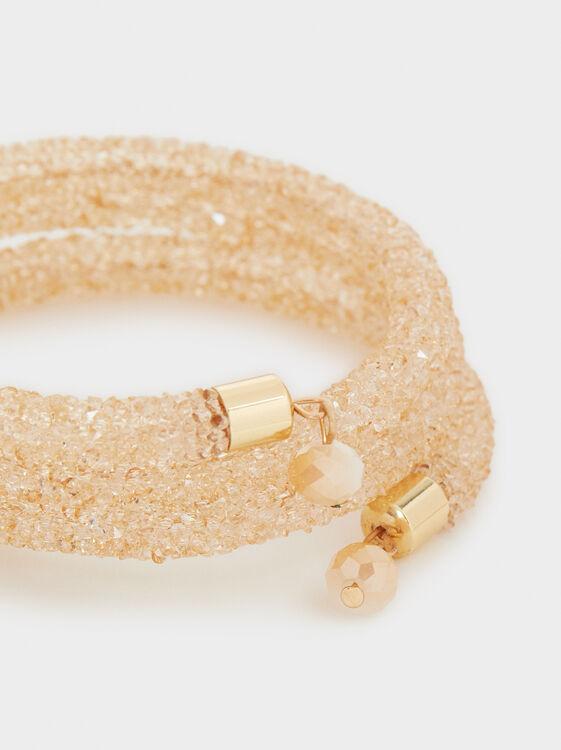 Creme Adjustable Bracelet, Pink, hi-res