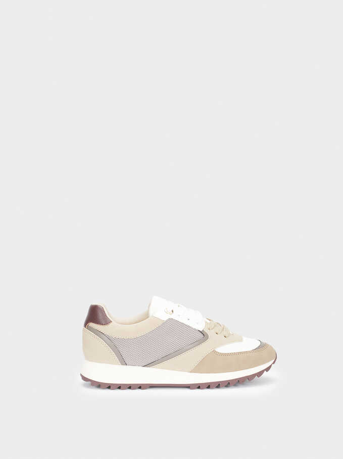 Trainers, Brown, hi-res