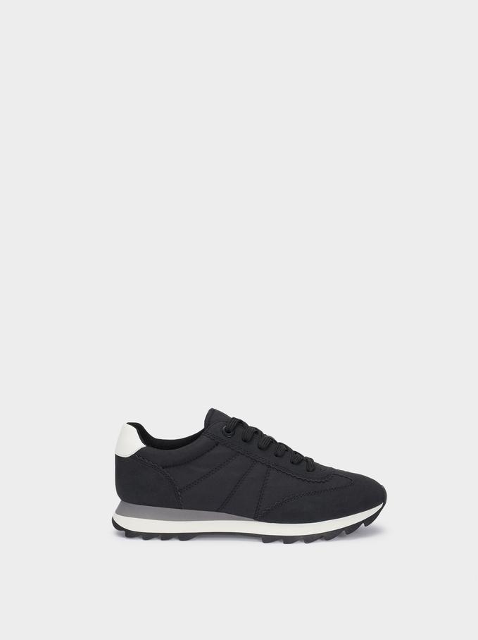 Sneakers Combinate , Nero, hi-res