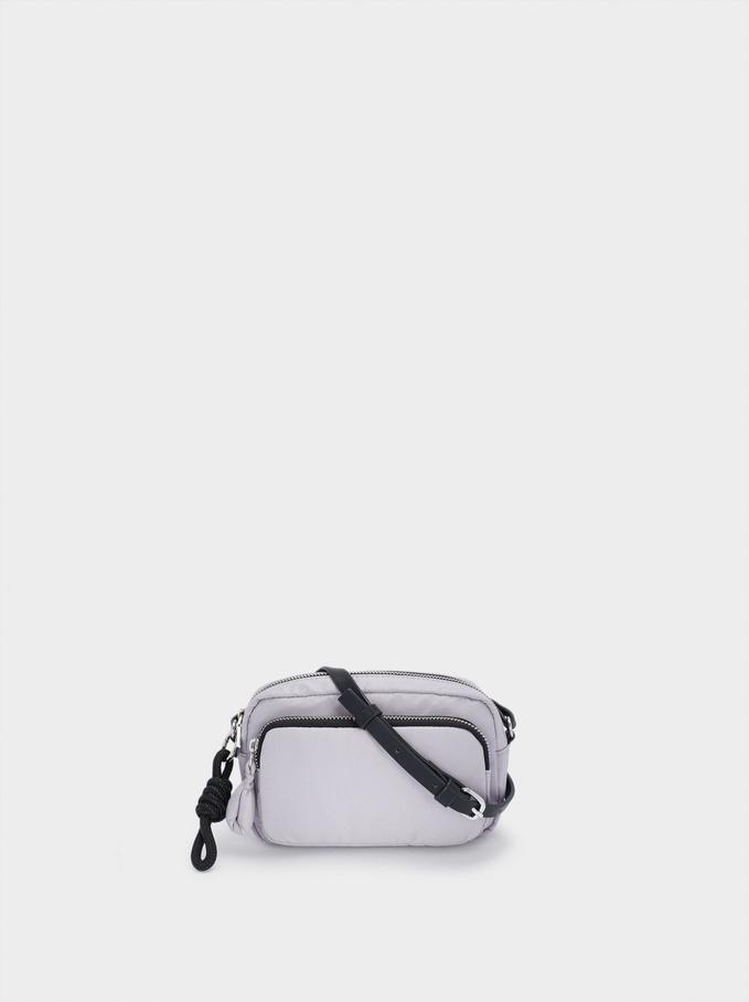 Nylon Crossbody Bag, Blue, hi-res