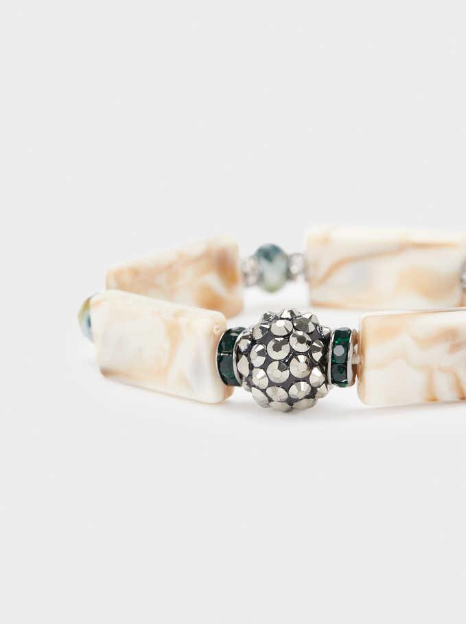 Elastic Bracelet With Crystals, Multicolor, hi-res
