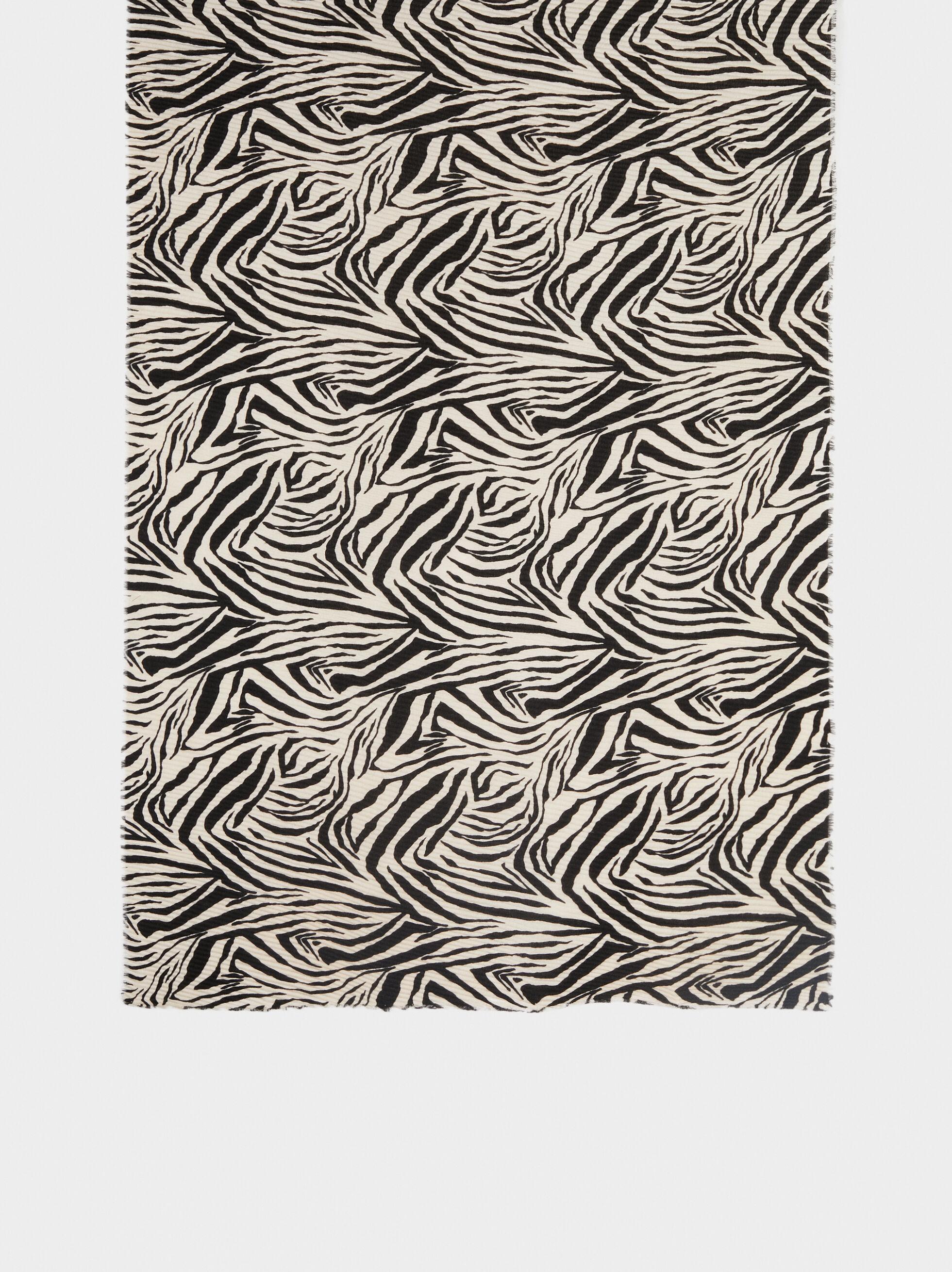 Animal Print Pocket Square, Black, hi-res